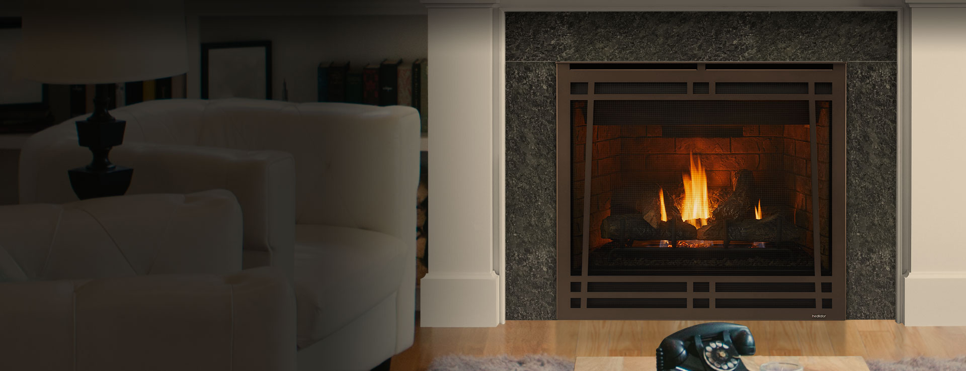 <p>Caliber Gas Fireplace</p>