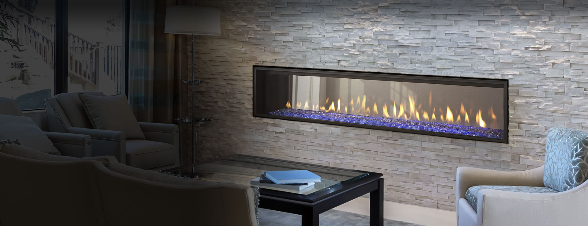 <p>Crave See-Through Gas Fireplace</p>