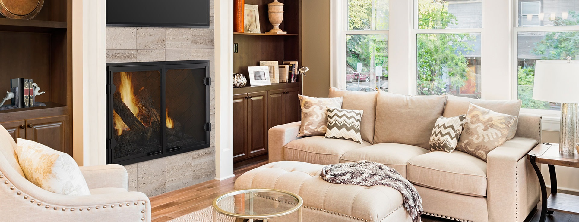 <p>Legacy TrueView Gas Fireplace</p>