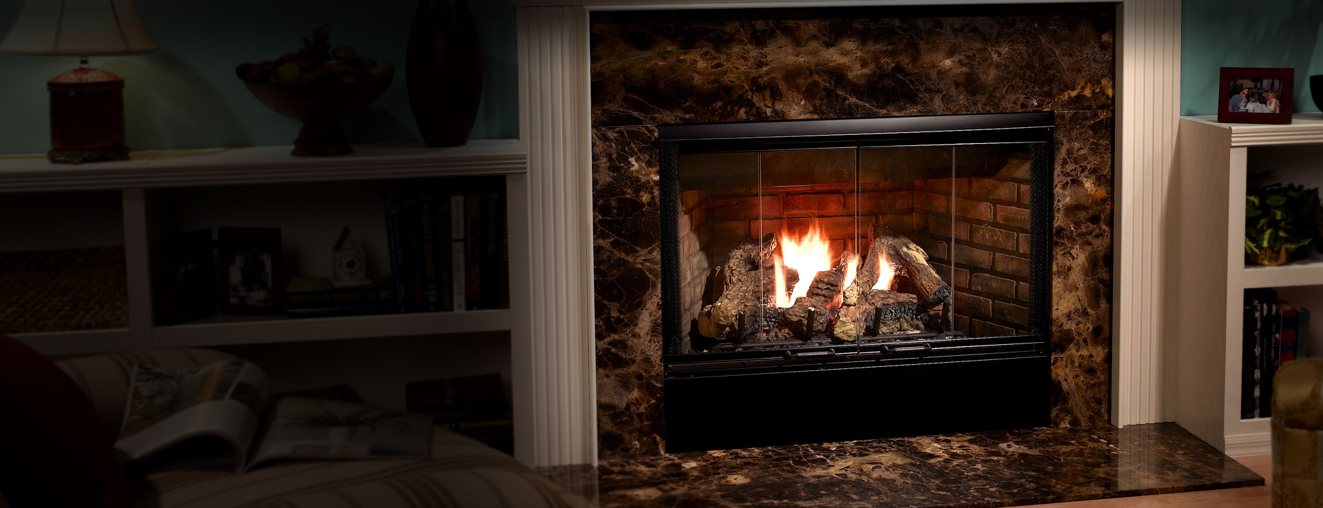 <p>Reveal Gas Fireplace</p>