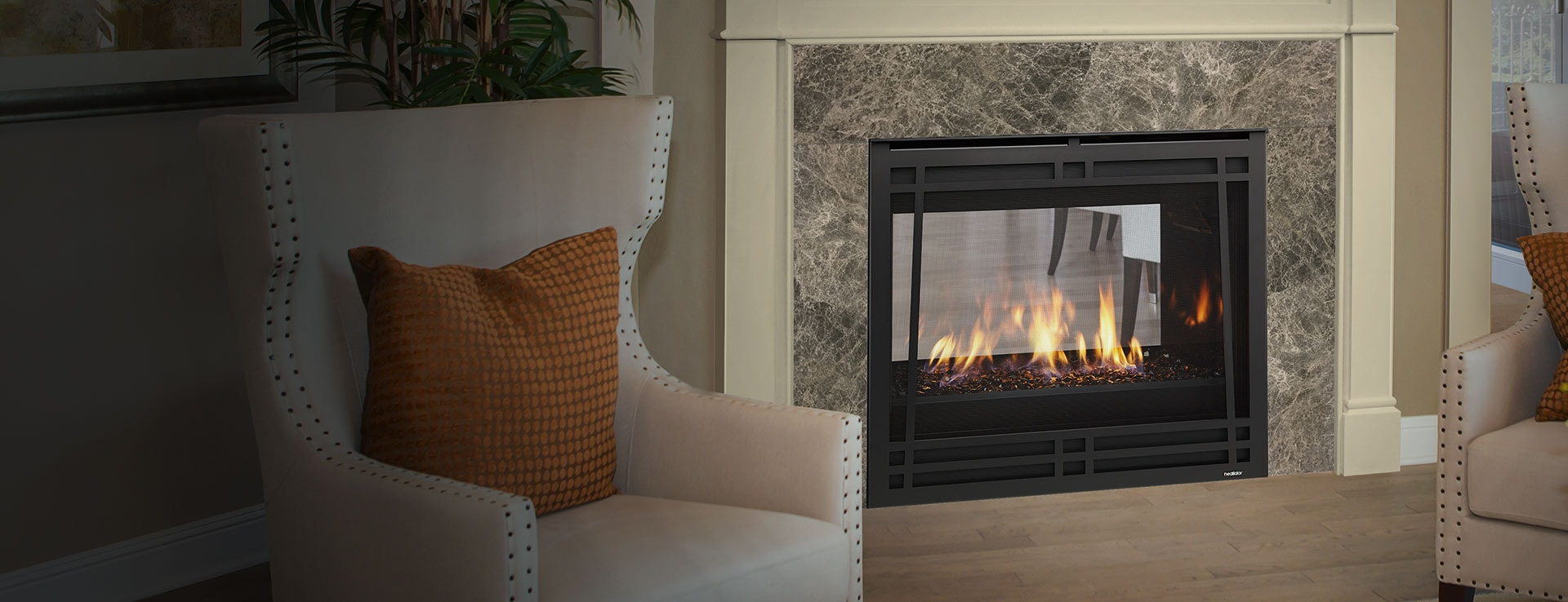 <p>See-Through Gas Fireplace</p>