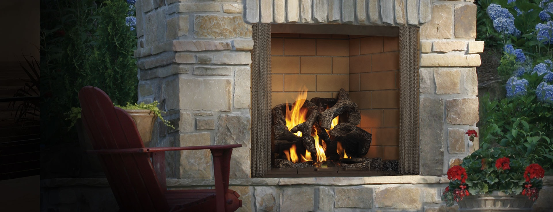 <p>Castlewood Outdoor Wood Fireplace</p>