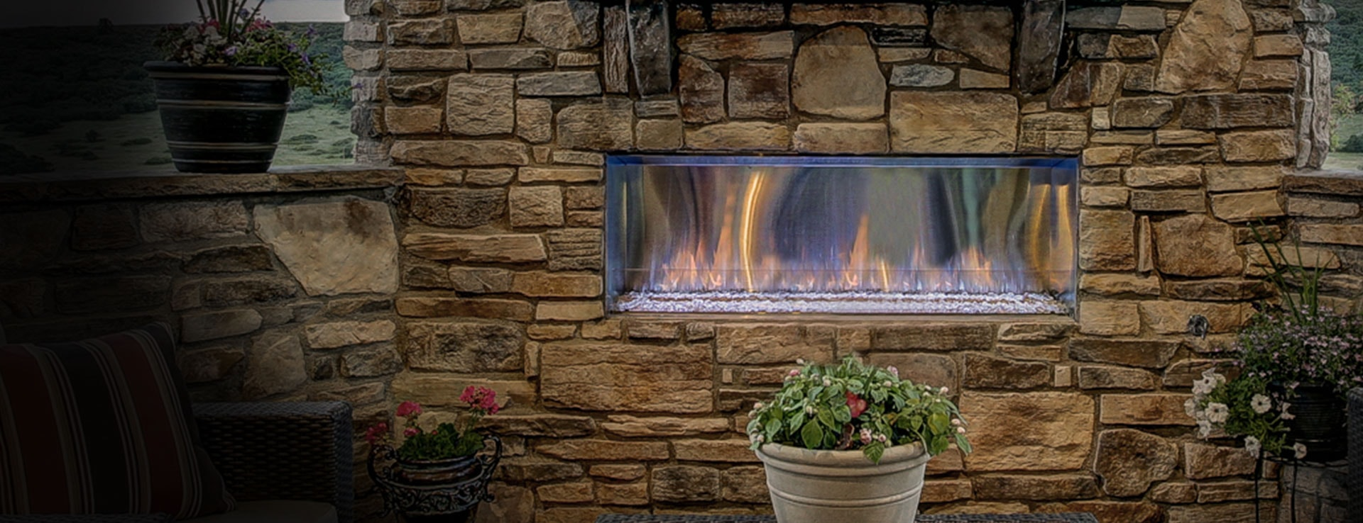 <p>Lanai Gas Fireplace</p>