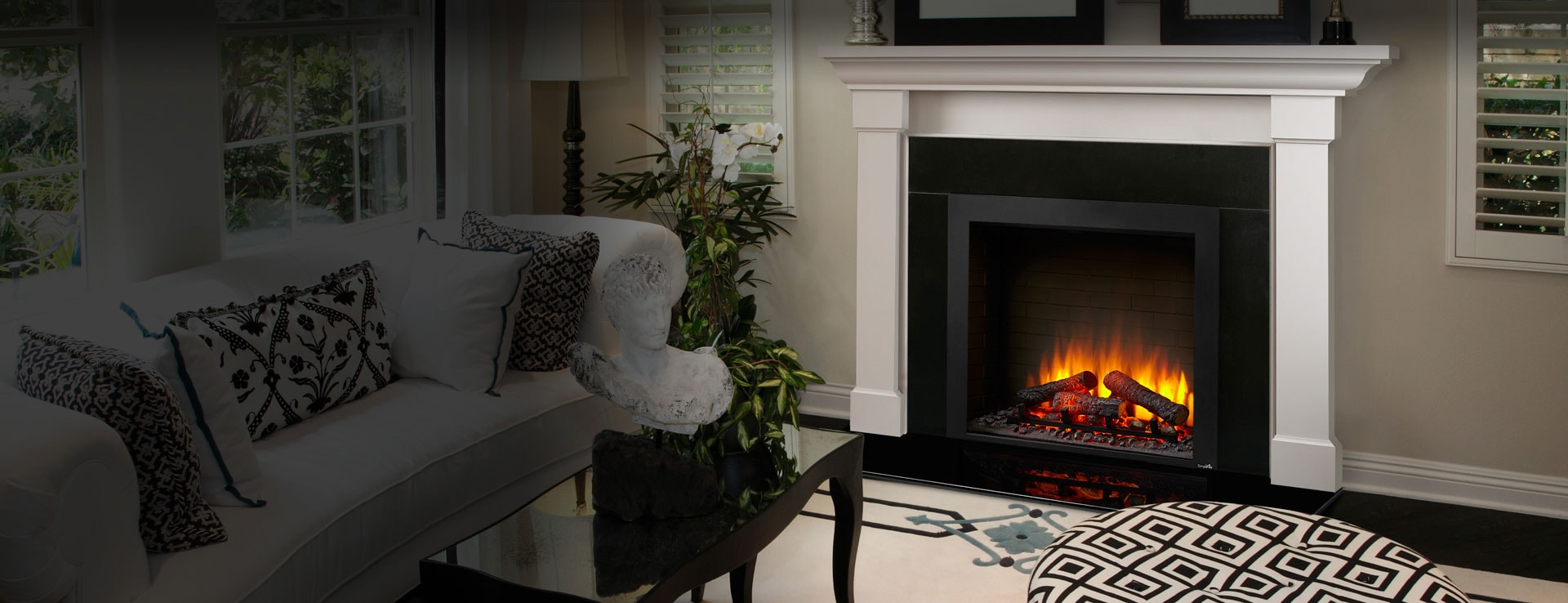 <p>SimpliFire Built-In Electric Fireplace</p>