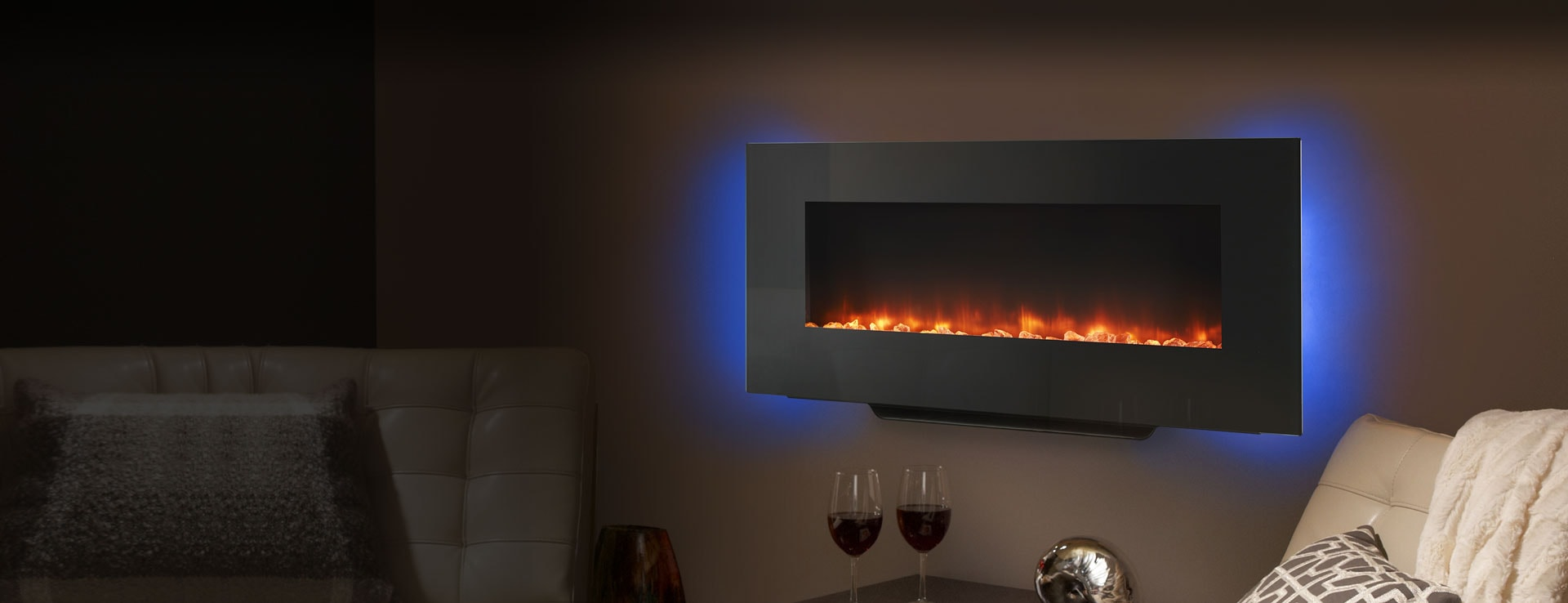 <p>SimpliFire Wall-Mount Electric Fireplace</p>
